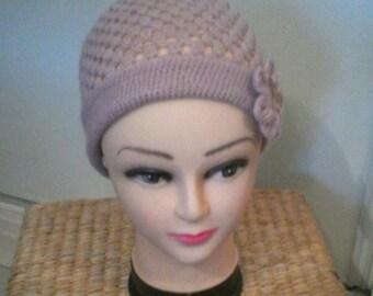 Rose point openwork crochet Hat