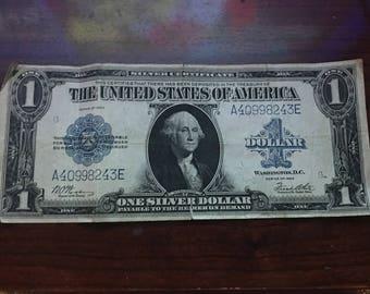 1923 One silver dollar