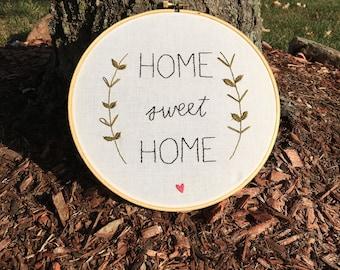 Home Sweet Home // Handmade Embroidery