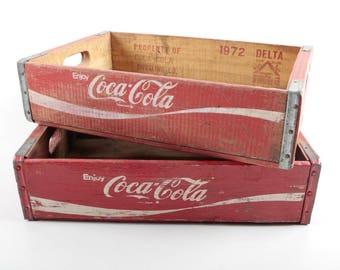 Vintage Coca Cola Wooden Crates