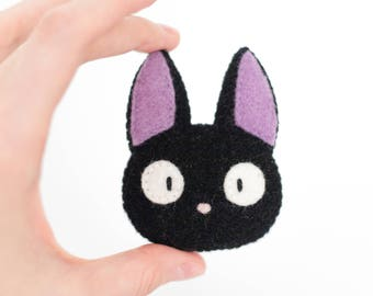 Jiji Cat Studio Ghibli Kawaii Sewn Felt Brooch / Pin