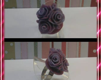 This ring purple pink polymer clay