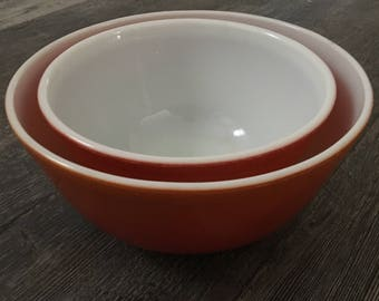 Pyrex Flameglo Mixing Bowl Set
