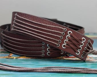 Womens Italian leather belt