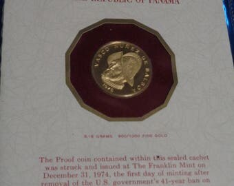 1975 One Hundred Balboa Proof Gold Coin