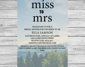 Bridal Shower Invitations - Forest