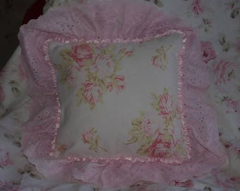 GEM PILLOW SHABBY CHIC PALE PINK