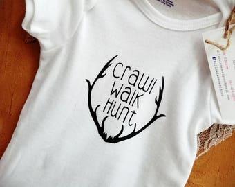 Crawl Walk Hunt Onsie