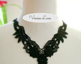 1 Black venise lace floral pattern