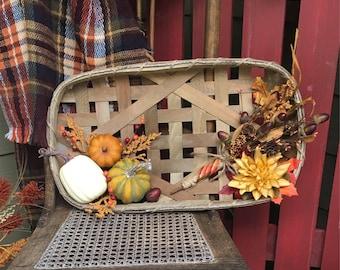 Tobacco Basket Fall Arrangement