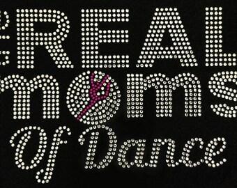 Real Moms of Dance bling t shirt