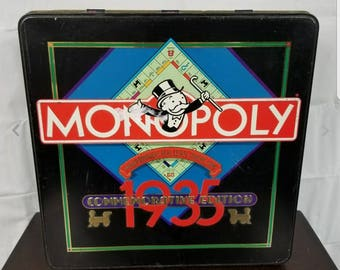 Monopoly 1935 Commemorative Edition Collectible Board Game Tin 1985