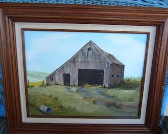 Vintage Oil Painting / Farmscape