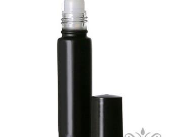 72 Black Glass Roll On Bottles - 10 ML