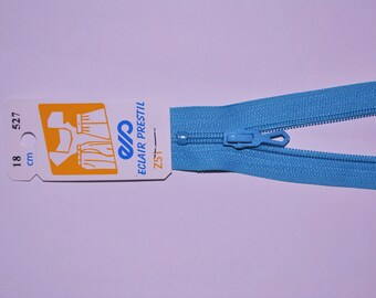 35cm simple non-detachable turquoise Z51 527 mesh nylon zipper