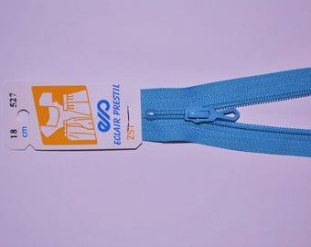 50cm simple non-detachable turquoise Z51 527 mesh nylon zipper