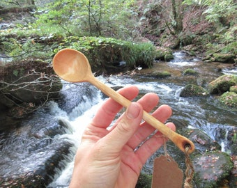Hand carved Hazel scoop spoon