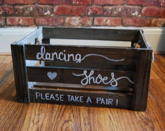 Hand Drawn Flip Flop 'Dancing Shoes' Basket | Flip flop basket | Wedding Crate | Wedding Baskets | Wedding basket | Wedding, Parties