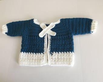 baby boy handmade crochet set