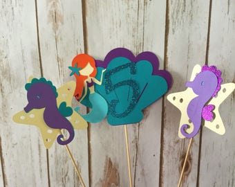 Mermaid Centerpieces, Mermaid Party, under the Sea party, Mermaid Birthday