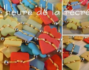 Recess time: original buttons necklace