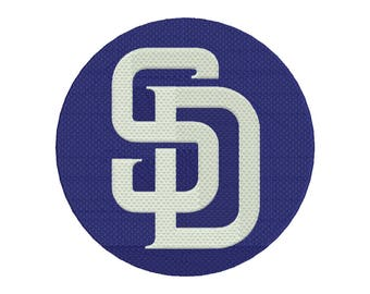 San Diego Padres Embroidery Design - 5 SIZES