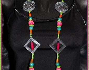 Beautiful multicolor necklace, OOAK