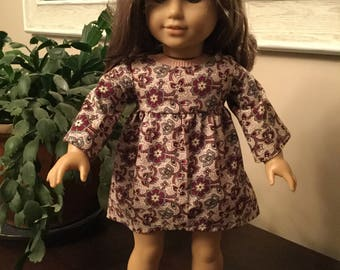 "Swing dress made to fit 18"" dolls such as American Girl"