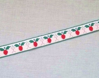 Red white stripe and Green 15mm X 1 m
