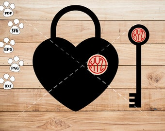 Lock SVG Files, key Clipart, cricut, cameo, silhouette cut files commercial &  personal use