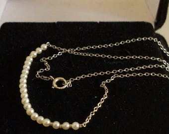 14k Gold Seed Pearl Necklace