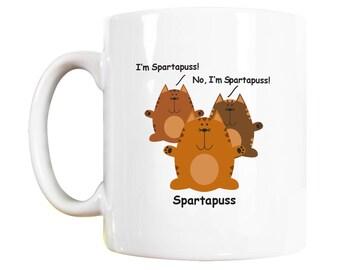 Spartapuss Cat Mug, Cat Lover Gift, Cat Mugs, Cat lovers Gift, Cat Lover Gifts, Cat Lovers Gifts, Cat Mug, Cat Gift, Cat Gift for
