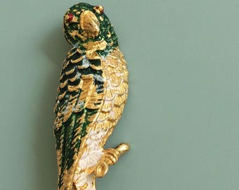 Vintage signed Gerry's Bird Brooch