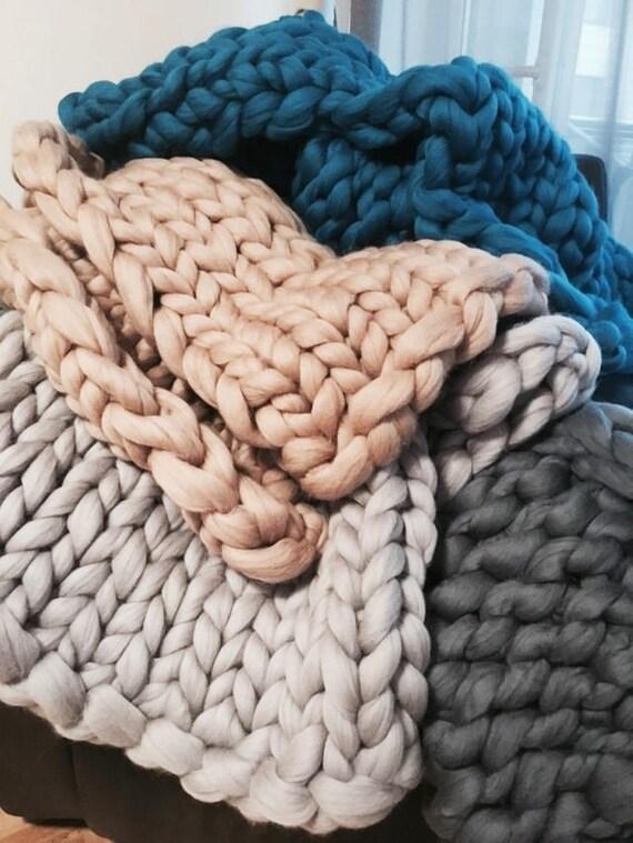 giant throw chunky blanket merino wool merino plaid arm. Black Bedroom Furniture Sets. Home Design Ideas