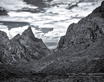 The Window Big Bend National Park, Black and White,  Nature Photography, Home Decor, Wall Art, Texas Gift, Landscape