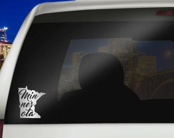 Minnesota Car Decal - Removable Vinyl Car Decals of Minnesota State