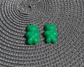 Green Teddy bear charms