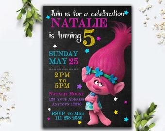 Kids invite mockup etsy editable pdf trolls birthday invitation trolls invitation trolls birthday invite trolls birthday stopboris Choice Image
