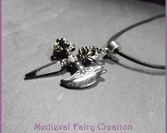 """Mixed necklace """"Fantasy ax"""""""