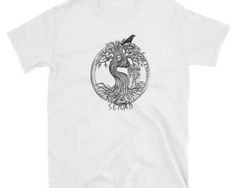 World tree - Snake Eating tail - Mythological Short-Sleeve Unisex T-Shirt