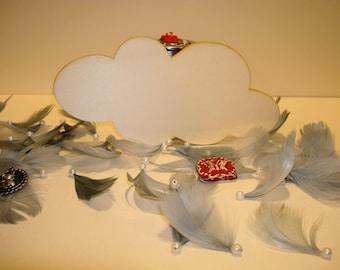 Cloud 3 x 5 cm set of 3-801 embellishment wooden creations