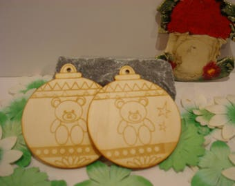 Christmas balls 02189 small Teddy bear decoration Christmas tree, nursery decor