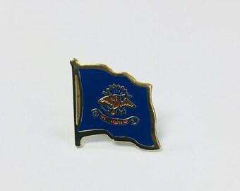 North Dakota State Flag Pin
