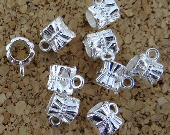 10 round bails striped silver-plated ideal bd019 jewelry