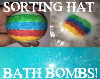 Harry Potter Sorting Hat Wizard Handcrafted Bath Bombs! Hidden Color Inside!!!