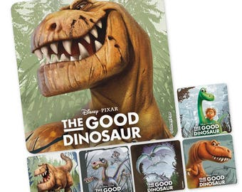 "25 The Good Dinosaur Stickers, 2.5"" x 2.5"""