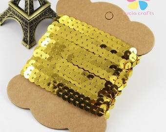 Golden sequins-glitter color braid