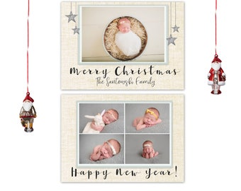 Merry Christmas Photo Card, Holiday Card, Personalized Christmas Card, Customized Christmas Card, Merry Christmas and Happy New Year Card