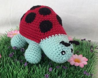 Entirely handmade crochet Ladybug