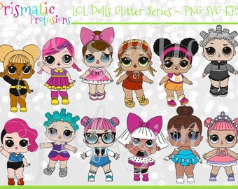 LOL Glitter Series / Image Clipart / DiY Modern Printable / Digital File / SVG / EPS / PdF / Stickers / Instant Download / Vector Graphics
